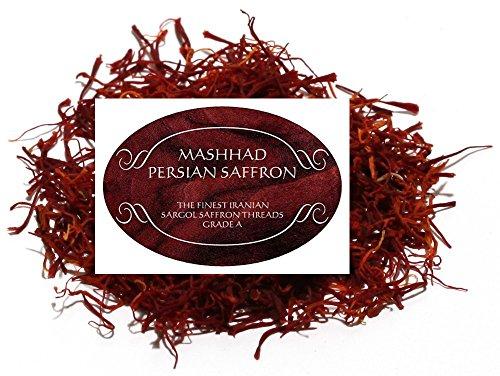Persian Saffron Threads Zaffron Azafran Finest Organic Threads Grade A  (10gm .35 oz)