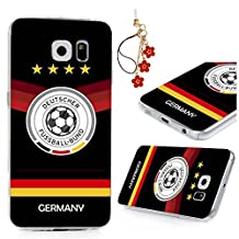 Galaxy S6 Case -MOLLYCOOCLE® Colorful Painted Football Baby Sports Design PC Hard Plastic Shell Full Edge Protection Scratch Resistant Protective Clear Ultra Skin Cover for Samsung Galaxy S6