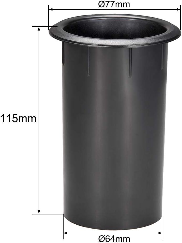 uxcell 64mm x 115mm Speaker Port Tube Subwoofer Bass Reflex Tube Bass Woofer Box 2pcs