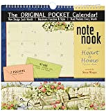 Wells St. by Lang - 2019 Note Nook Organizational Wall Calendar -Heart and Home Artwork by Susan Winget- 24 Storage Pockets - 12 Months - 11 3/4 x 13 1/4 inches