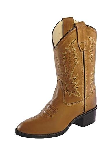 Amazon.com | Old West Girls' Corona Calfskin Cowboy Boot Round Toe ...