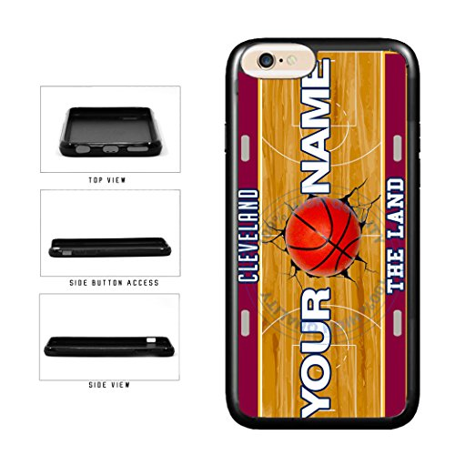 BleuReign(TM) Personalized The Land Custom Name Basketball Team Cleveland License Plate TPU RUBBER SILICONE Phone Case Back Cover For Apple iPhone 7