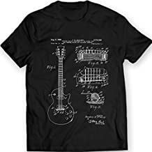Gibson Les Paul Guitar T-Shirt Mens Gift Idea Music Tee Holiday Gift Birthday Patent