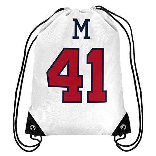 Atlanta Braves Mathews E. #41 Hall Of Fame Drawstring Backpack