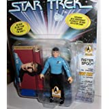 PLAYMATES STAR TREK MR. SPOCK WITH BONUS 30TH ANNIVERSAY ACTION BASE