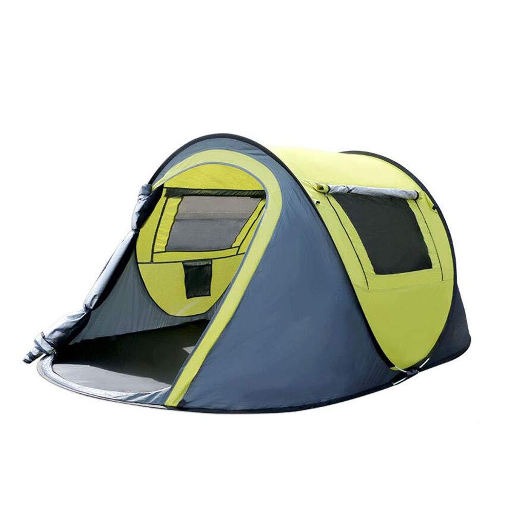 Dall zelte Zelt 3-4 Mann Familie Großes Zelt 2 Türen 2 Windows Camping Reise Draussen (Farbe : Grün)