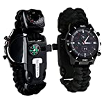 Survie paracord Bracelet de survie d'urgence, Hommes & Femmes horloge avec/Sifflet/Allume-feu/grattoir/Boussole et… 6