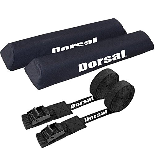 Dorsal Origin Surf Rack Pads and Straps - 2 X 19 Inch pads and 2 X 15' ft straps