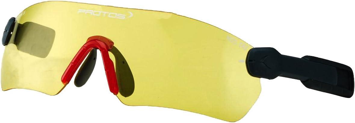 Jaune Protos 204090-1-50 Lunettes de protection pour casque de s/écurit/é