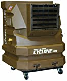 Portacool PAC2KCYC01A Cyclone 3000 Portable Evaporative Cooler with 700 Square Foot Cooling Capacity, Sienna