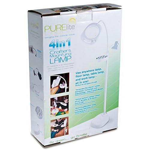 PURElite CFPL14 4-En-1 Lampe d'Artisan à Loupe en Plastique Plastique Multicolore 13,4 x 1 x 12 cm