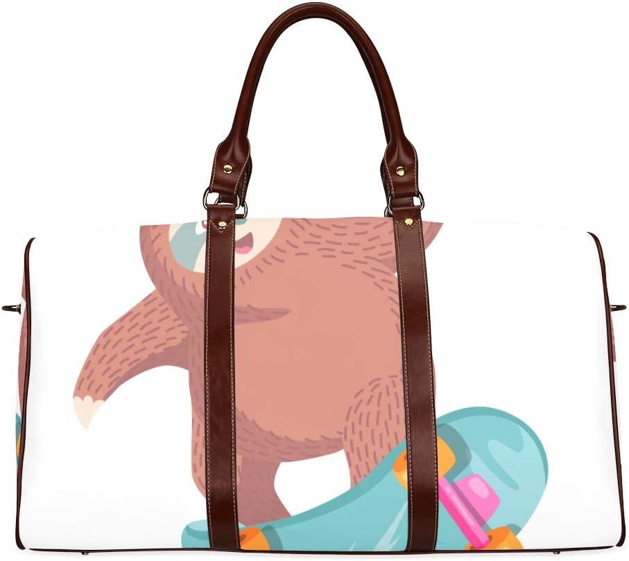 Weekender Overnight Bag Kawaii Cute Sloth Popular Animal Waterproof Microfiber Leather Carryon Bag Lady Handbag Fashion Handbags Womans Bag Womans Handbags