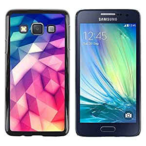 FlareStar Colour Printing Scales Mermaid Vibrant Green Pattern cáscara Funda Case Caso de plástico para Samsung Galaxy A3 / SM-A300