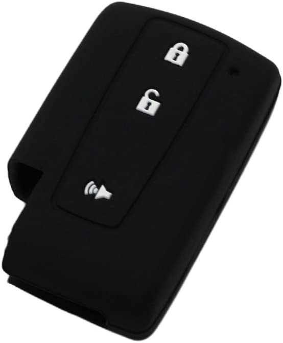 SEGADEN Silicone Cover Protector Case Holder Skin Jacket Compatible with TOYOTA 3 Button Smart Remote Key Fob CV2414 Black