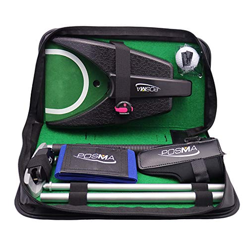 - POSMA GSP010A All-in-1 Golf Putting Training Executive Gift Set Perfect Golf Training Putter Gift Set for Indoor Outdoor Golf Practice - Aluminum Putter