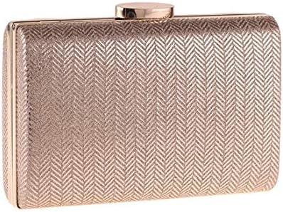 ハードシェルハンドバッグ、クラッチバッグ、イブニングバッグ、正方形の合成皮革枕小さな正方形のバッグ、(色:金)絶妙な縫製 美しいファッション