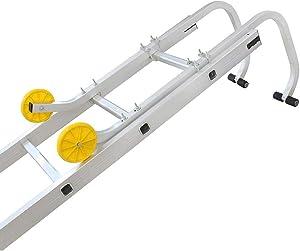 Todeco - Ladder Roof Hook, Universal Roof Hook for Ladder - Maximum Load: 330 lbs - Material: Steel - 0.93 Meters (3.1 Feet)