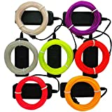 TGHCP-7 Pack 9FT Neon Glowing EL Wire with Battery Pack (Ice Blue,Lime Green,White,Pink,Red,Purple,Yellow)