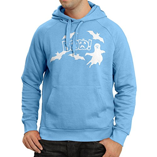Hoodie BAAA! - Funny Halloween Costume Ideas, Cool Party Outfits (Large Blue Multi Color) -