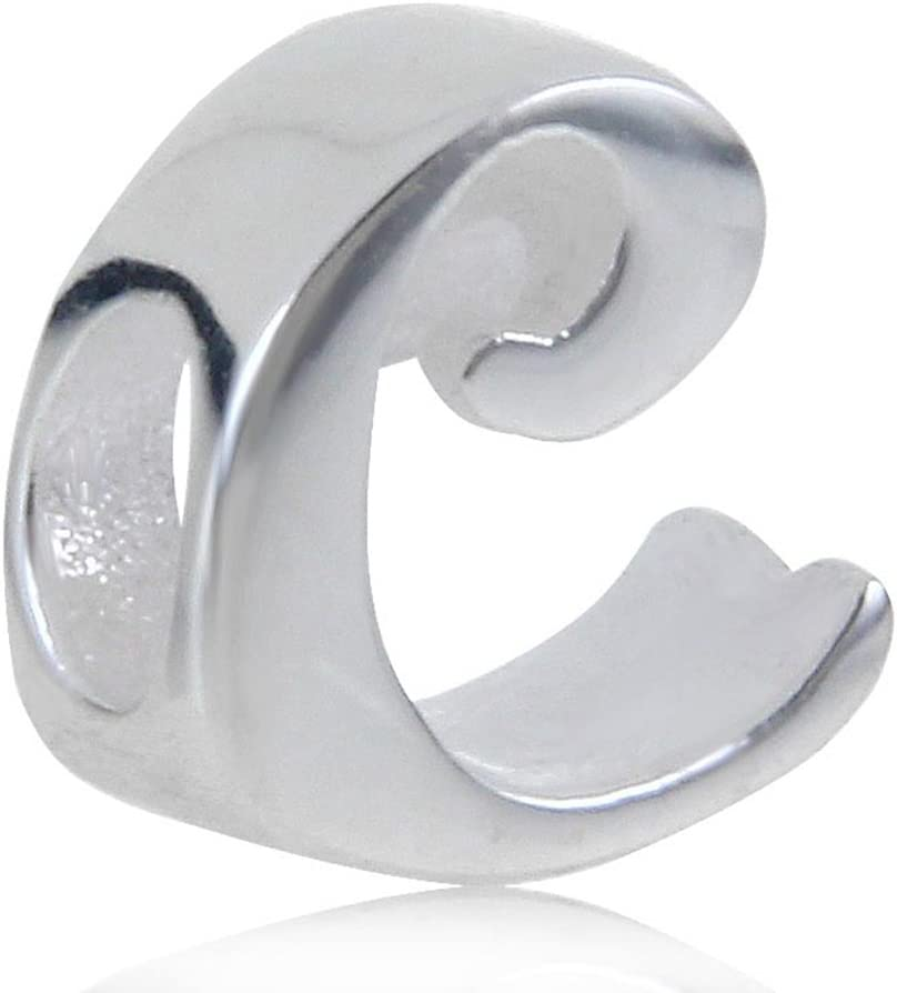 Choruslove Letter Initial A-Z Alphabet Charm 925 Sterling Silver Bead for 3mm European Bracelet Bangle C