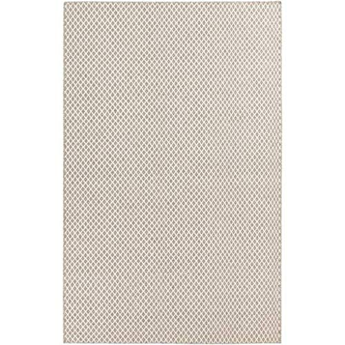 Amelia Solid Stripes 5' x 8' Rectangle Texture 100% Wool Taupe/Cream Area - Rug Rectangle Taupe