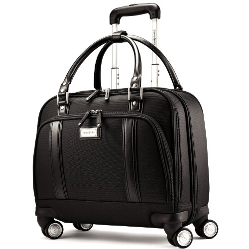 Laptop Briefcase Wheels (Samsonite Luggage Women's Spinner Mobile Office, Black, One Size)
