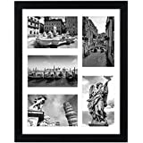 Americanflat 11x14 Collage Picture Frame - Display Five 4x6 Pictures with Mat