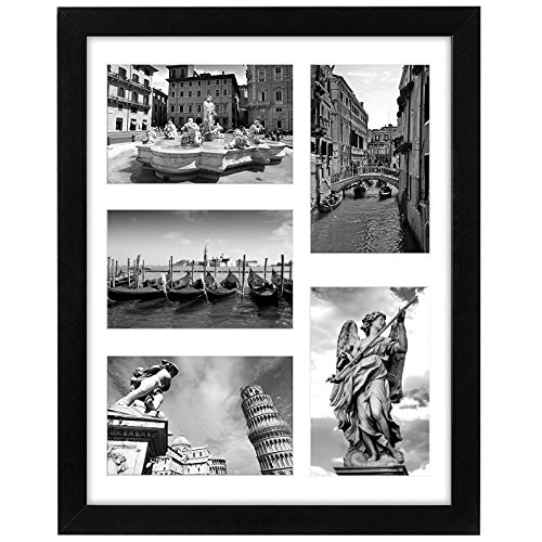 Americanflat 11x14 Collage Picture Frame - Display 5 4x6 Pictures with Mat