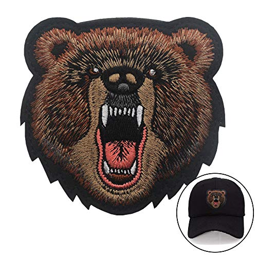 Bear Patch Embroidered Armbands Badges Patch Hook & Loop Patches 3