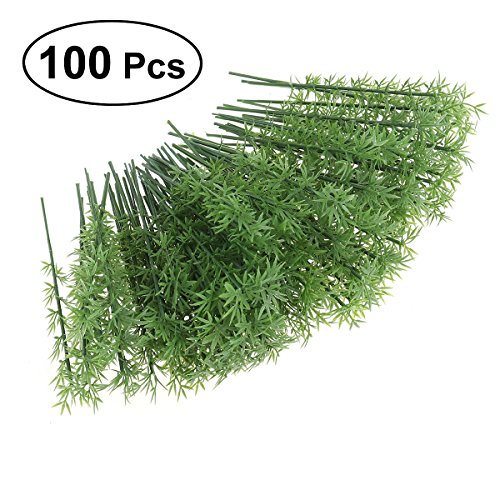 NUOLUX 100pcs Model Bamboo Trees 1:75 12cm Plastic Bamboo Trees Model Train Scenery Landscape Scale