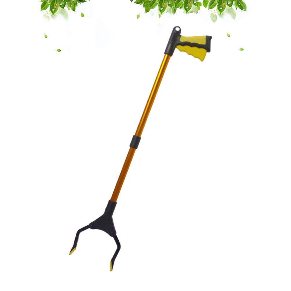 HEALIFTY Grabber Pick up Tool Claw Trash Garbage Picker Lightweight Extra Long Handy Trash Claw Grabber Golden