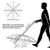 "Dog Umbrella, Transparent Pet Umbrella with Leash Assembly - Fits 20"" Pet's Back Length"