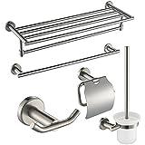 Suntech SUS 304 Stainless Steel Bathroom Accessories Set, 5 Pieces, Brushed Nickel