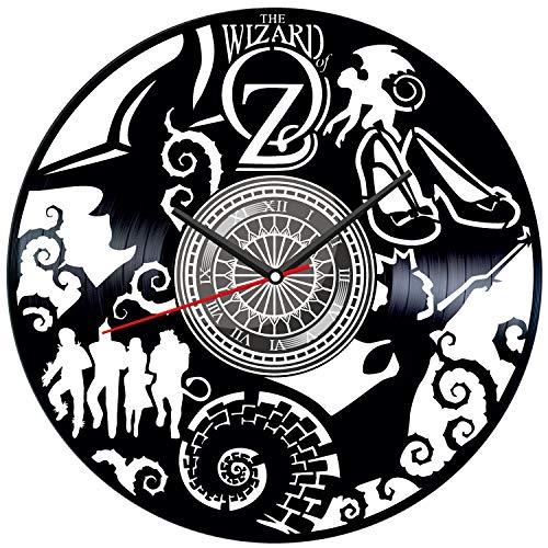 Hanukkah Decorations Ideas (The Wizard of Oz Black Vinyl Clock - Vintage Room Kitchen Bedroom Decor - Vinyl Record Gift Idea for Birthday Christmas Hanukkah - Unique Vintage Wall Art - Personalized Home)