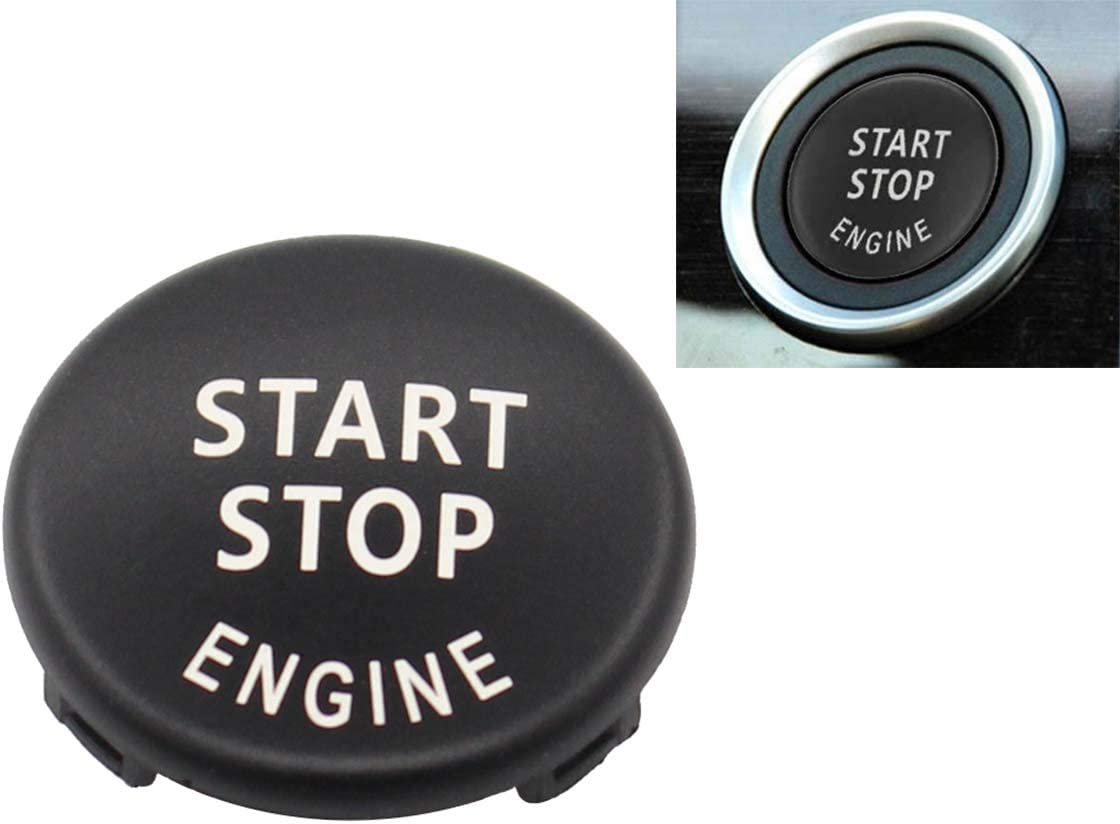 1 3 5 Series RETYLY Start Stop Engine Button Push Button Ignition Switch Cover Replacement for X1 X3 X5 X6 Z4 E87,E90//E91//E92//E93,E60 E84, E83, E70, E71, E89 Black