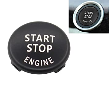 Black Start Stop Engine Button Switch Cover for BMW X5 E70 X 6 E71 3 E90  E91 E92 E93 E87 E83 Z4 E89 320 325 520 525 328i(2007-2011) 335i 330i