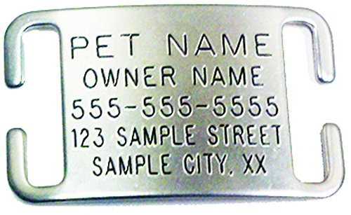 Leashboss Pet ID Tags for Dog & Cat Collars - Personalized & Engraved Custom Identification Tag - Boomerang Tags - Silent, Durable, and Will Not Fall Off (1/2 or 3/8 Inch Collars, Adjustable, X-Small)