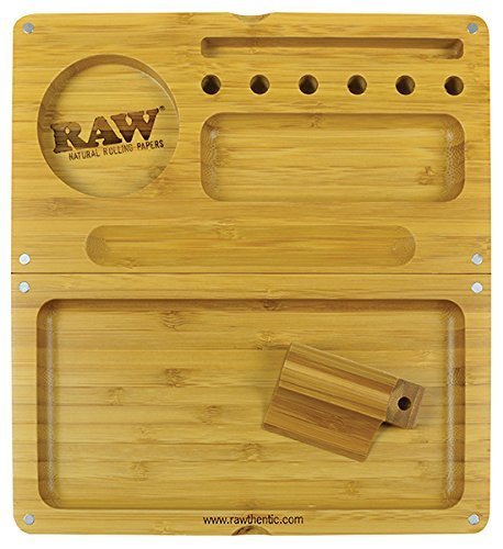 RAW 'Backflip' Bamboo Magnet Rolling Tray