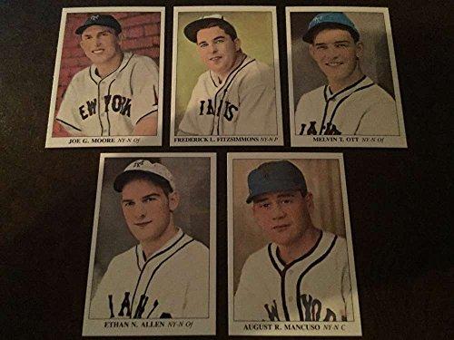 1985 America's National Pastime 1930-1939 New York Giants Team Set 5 Cards Mel Ott