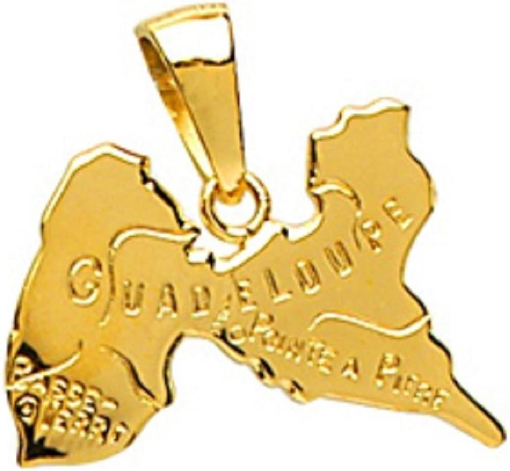 Jouailla 396248 Pendentif Guadeloupe en Or 375//1000 avec inscriptions