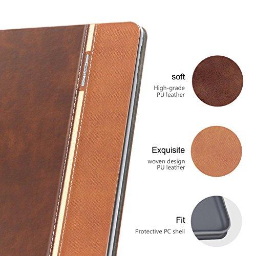 iPad Air 2 Case, AUAUA iPad Air 2 PU Leather Case with Smart Cover Auto Sleep/Wake +Screen Protector for Apple iPad Air 2 (iPad Air 2 case, Air2 Choco Brown) by auaua (Image #1)
