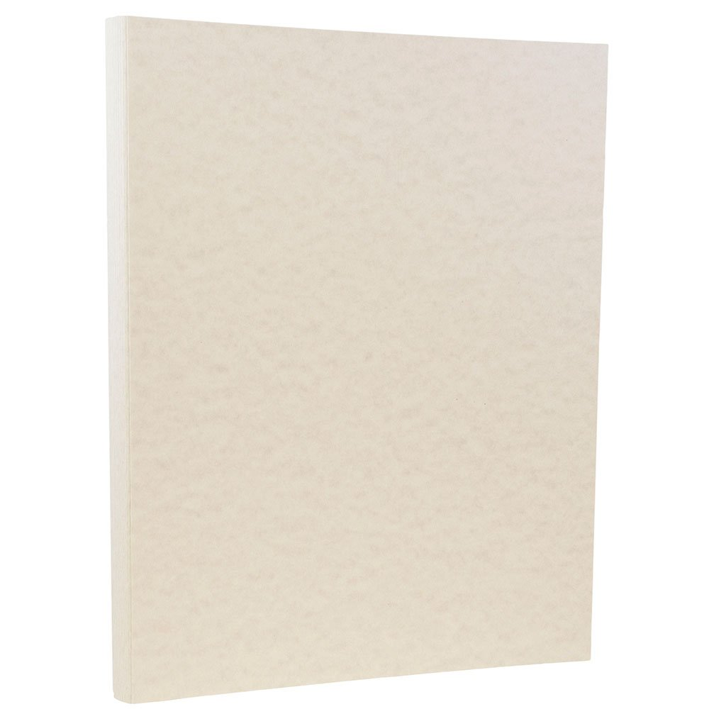 JAM PAPER Parchment 24lb Paper - 8.5 x 11 Letter - Pewter Gray Recycled - 100 Sheets/Pack