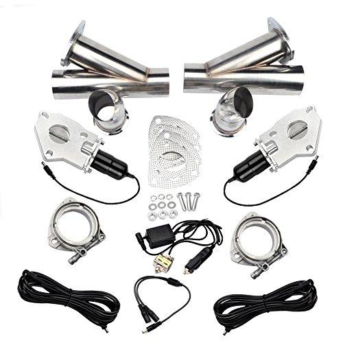 EVIL ENERGY 2 Inch 2PCS Exhaust Cutout Manual Valve Motor Kit - Evil Pipe Kit