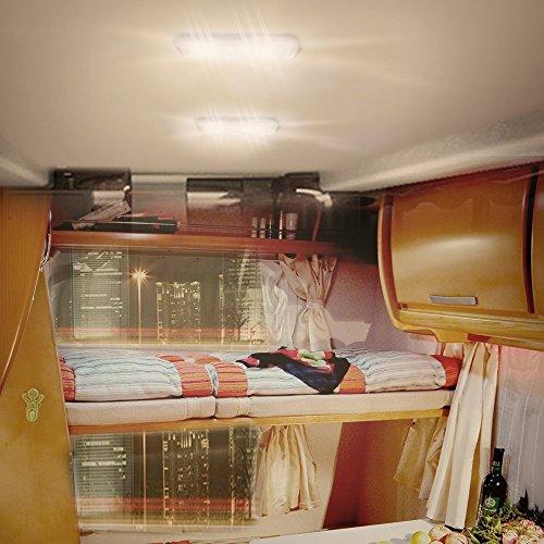 Lumitronics Designer Double Led Rv Dome Light With 3 Way