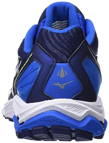 Mizuno Wave Inspire 14, Scarpe da Running Uomo Blu (Directoire Blue/Bluedepths/Safety Yellow)