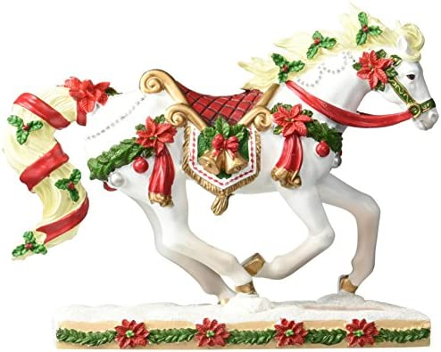 Westland Giftware Horse of A Resin Figurine, Christmas Carousel