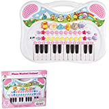 Piano Musical Animal Braskit Rosa