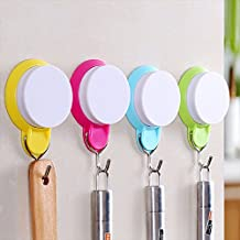 Kaimao 4 PCS Strong Bathroom / Kitchen Suction Hook Reusable Waterproof Adhesive Wall Hook for Coat , Robe , Towel , Clothes and Hat