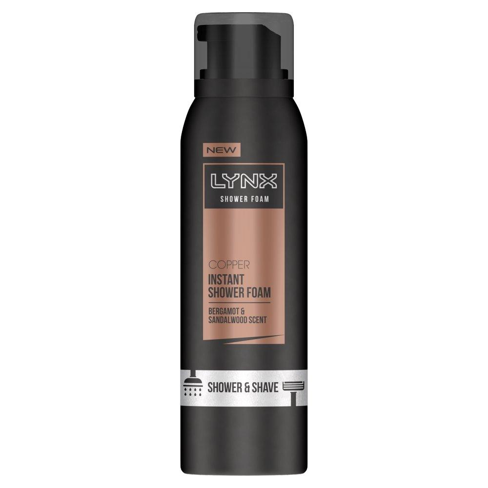 Lynx Copper Bergamot & Sandalwood Shower & Shave Foam, 200 ml UNILEVER UK 109684266