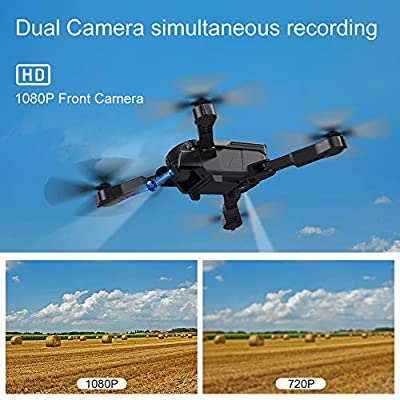 AKASO A300 Mini Quadcopter Drone Dual Camera Live Video with 1080P HD FPV WiFi RC Drone for Kids Beginners Adults